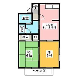 エクセルアオキ[2階]の間取り