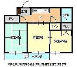 KODAガーデン[2階]の間取り