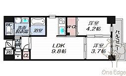 サニーハウス天満橋[2階]の間取り