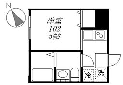 アトレ北新宿 1階ワンルームの間取り