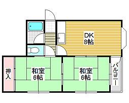 フォンタル堺東[4階]の間取り