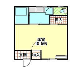 第一大窪荘[1階]の間取り