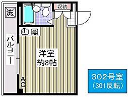いすずマンション[302号室]の間取り