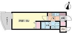 東京都目黒区目黒1丁目の賃貸マンションの間取り