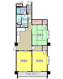 メゾン彩霞[4階]の間取り