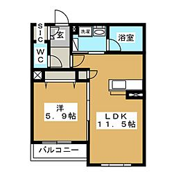 GRAND HILLS KATAKURA 3階1LDKの間取り