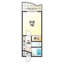 エトワール21船穂マンションA[4階]の間取り