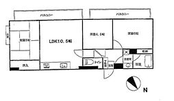 アネシス洋光台[402号室]の間取り