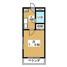川島パーキングビル[3階]の間取り