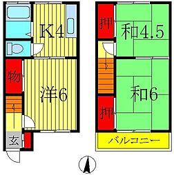 [テラスハウス] 埼玉県三郷市新和4丁目 の賃貸【/】の間取り