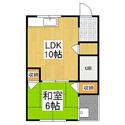 コーポ中村[4階]の間取り