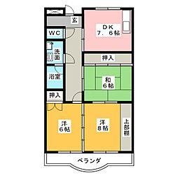 パラサンピア II[4階]の間取り