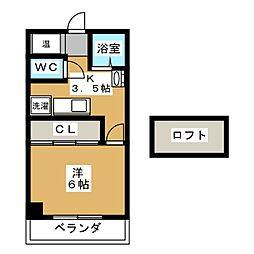 YASURAGI[2階]の間取り