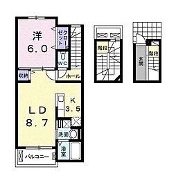 下郡マナーハウス[3階]の間取り