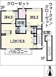 ソーレ・プロメッサ[2階]の間取り