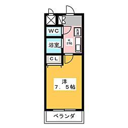 イーストウイングIII[1階]の間取り