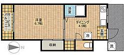 第7ちどり荘[104号室]の間取り