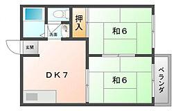 マリーハイツ A棟[2階]の間取り