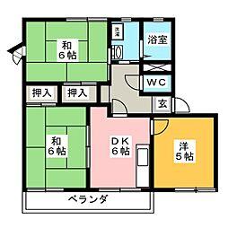 ドエル千間堂[2階]の間取り