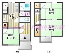 [タウンハウス] 岡山県岡山市北区平野 の賃貸【/】の間取り