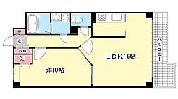 兵庫県神戸市東灘区西岡本3丁目の賃貸マンションの間取り