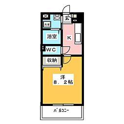 ブルースカイマンションX[3階]の間取り