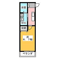 静岡県静岡市駿河区小黒1の賃貸アパートの間取り