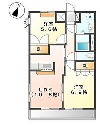 グレートノーブルA[2階]の間取り