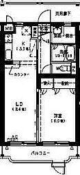 レザンス波島[2階]の間取り