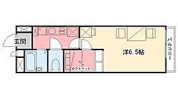 兵庫県西宮市甲子園高潮町の賃貸アパートの間取り