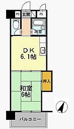 リバーサイド中津[2階]の間取り