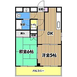 ヴェルハイム小金井II[3階]の間取り