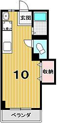 紫野ハイツ[208号室]の間取り