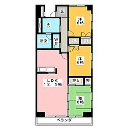 ハーモニーセブン[11階]の間取り