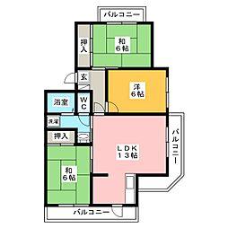 サンパール都府楼[2階]の間取り