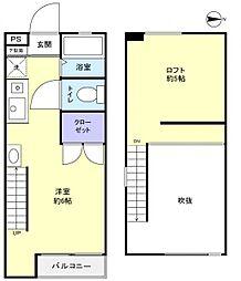 オーガニック・プロバンス勝田台[2階]の間取り