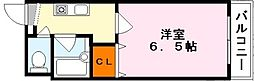 滋賀県大津市平津1丁目の賃貸マンションの間取り