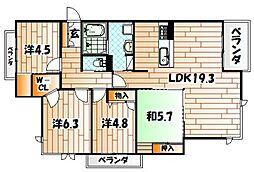 クオレール真鶴[3階]の間取り