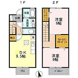 [テラスハウス] 東京都練馬区大泉学園町5丁目 の賃貸【/】の間取り
