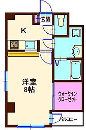 神奈川県横浜市神奈川区広台太田町の賃貸マンションの間取り