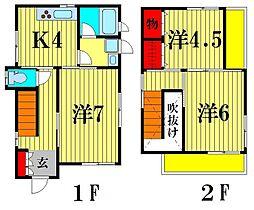 [一戸建] 千葉県市川市中国分5丁目 の賃貸【/】の間取り