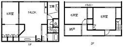 [一戸建] 北海道旭川市豊岡八条5丁目 の賃貸【/】の間取り