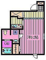 埼玉県川口市芝下2丁目の賃貸アパートの間取り