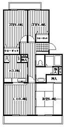 オクトス市が尾[3-203号室]の間取り