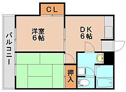 松尾コーポ[2階]の間取り