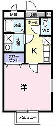 シャトー長尾[1階]の間取り