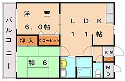 ファインコーポ汐井[2階]の間取り