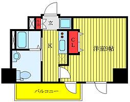 GENOVIA駒込駅 greenveil 1階1Kの間取り