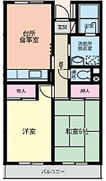 セントロ習志野[5階]の間取り