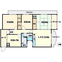 上野坂グリーンII[3階]の間取り